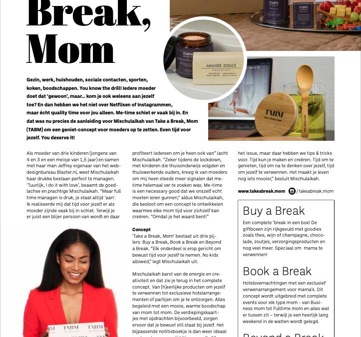 Take a break, Mom in BrAM Magazine!